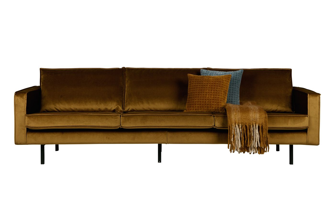 Rodeo 3-pers. Sofa i velour - Honning gul