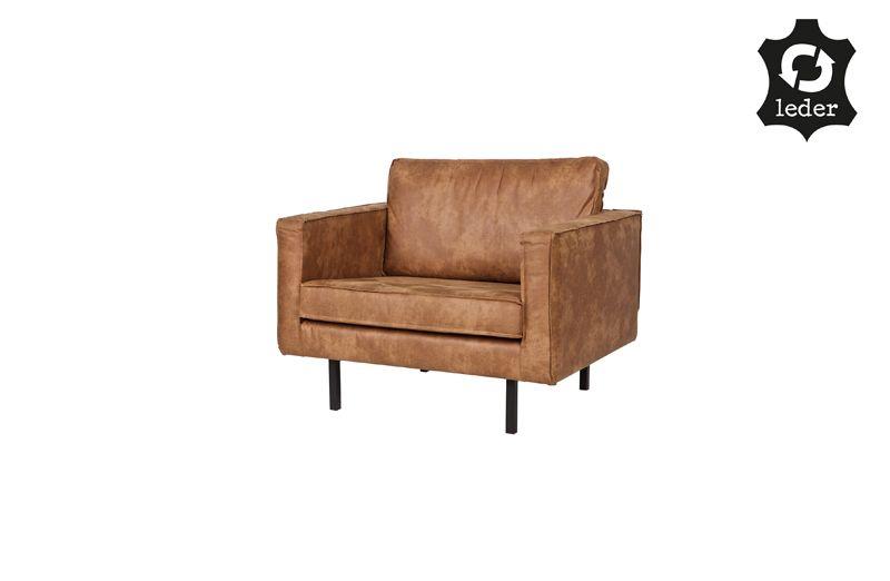 Rodeo Lænestol i øko-læder - Cognac