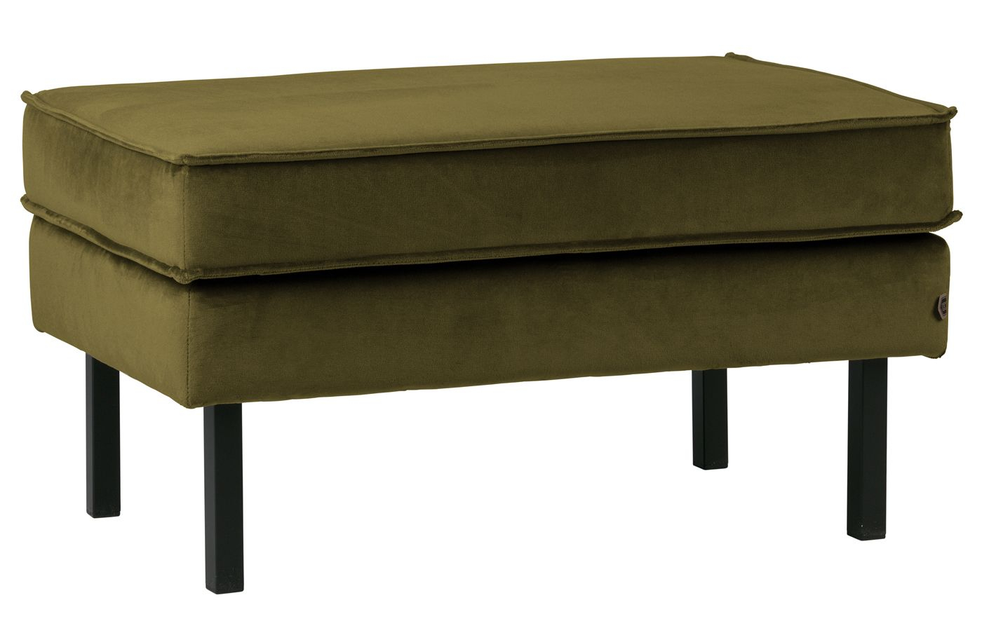 Rodeo Puf 84x54 m. velour - Oliven