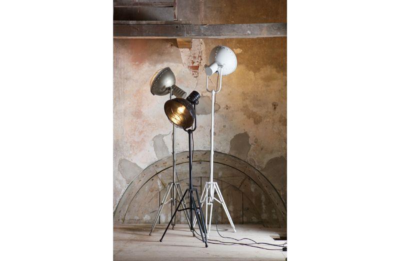 Spotlight Gulvlampe - grå metal