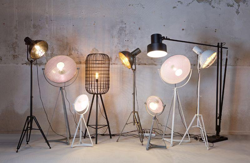 Spotlight Gulvlampe - hvid metal