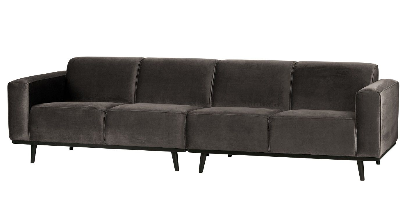 Statement Sofa 4-pers. i taupe velour