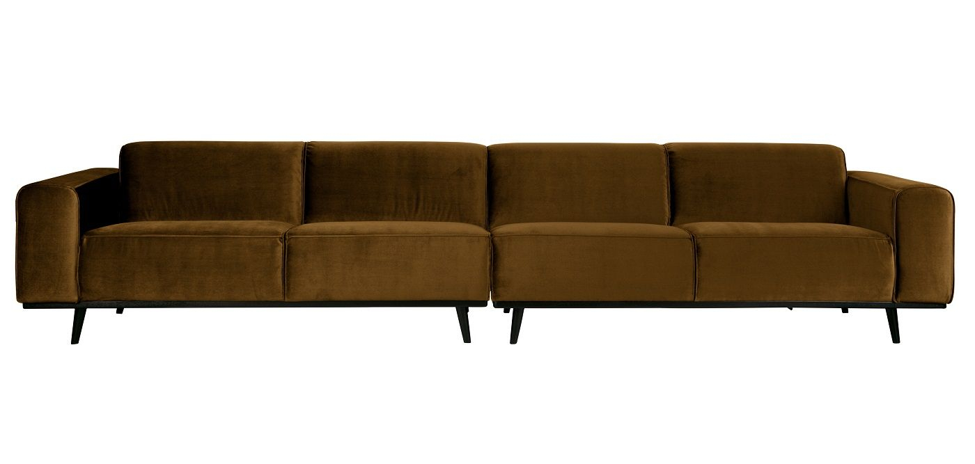 Statement Sofa XL 4-pers. - Honninggul velour