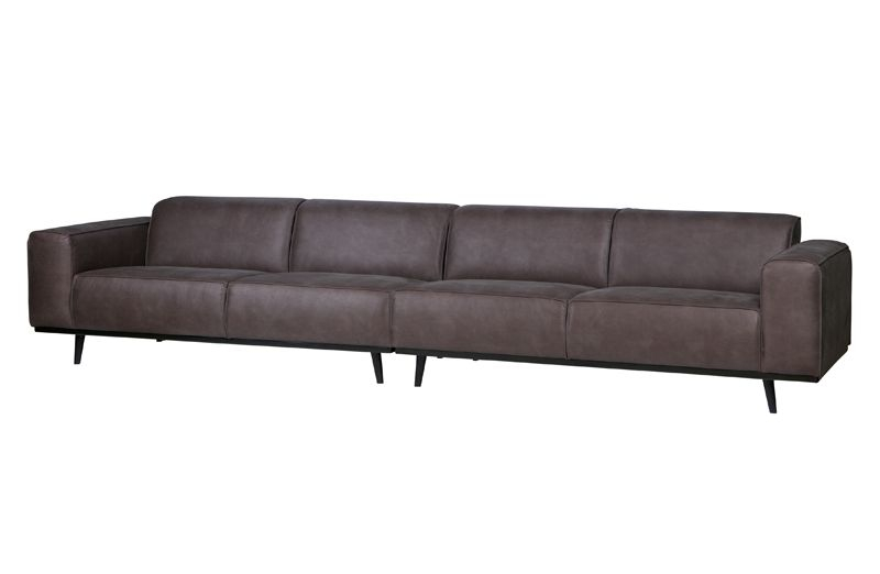 Statement Sofa XL 4-pers. i grå øko-læder