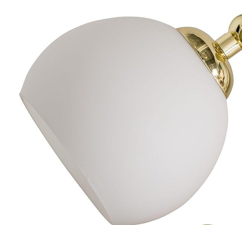 Bloomingville Bordlampe - Hvid med træ - Bordlampe med gulldetaljer