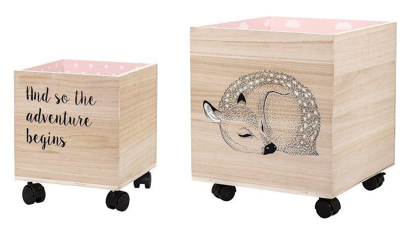 Bloomingville Mini Børnetilbehør - Rosa - Rosa oppbevaringskasser