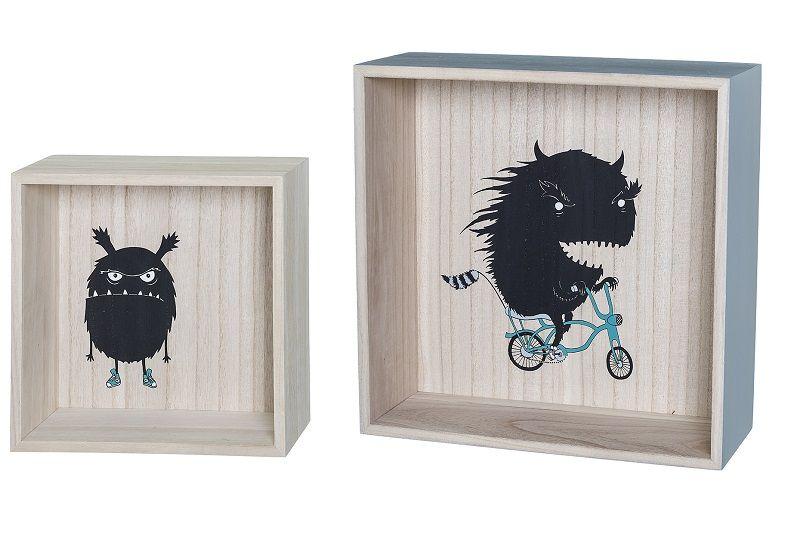 Bloomingville Kids Opbevaringskasse - Natur - Displaykasser med figur
