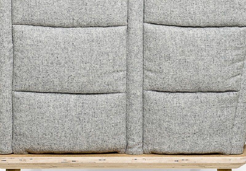 Bloomingville Nora Sofa - Grå - Tremmesofa i grå uld