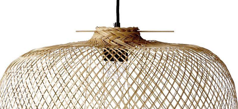 Bloomingville Pendel - Natur - Loftslampe i bambusflet Ø42 cm