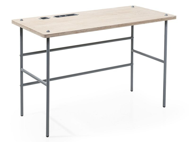Bloomingville Study Skrivebord - Lys træ - Skrivebord i lyst tre og metall
