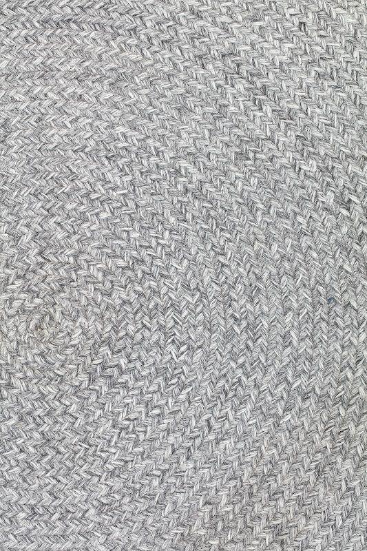 Bloomingville Tæppe Ø120 cm - Grå - Rundt tæppe i grå