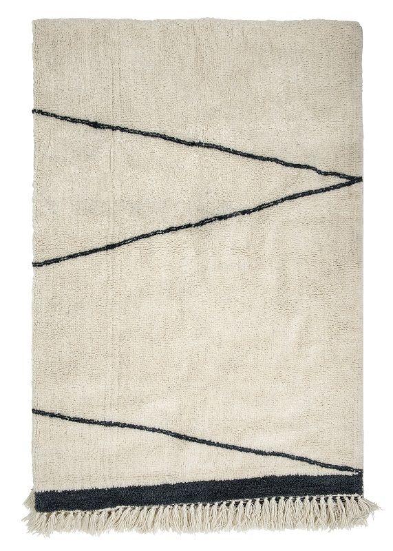 Bloomingville Uldtæppe - Hvid 300x200 - Uldtæppe med mønster 200x300 cm