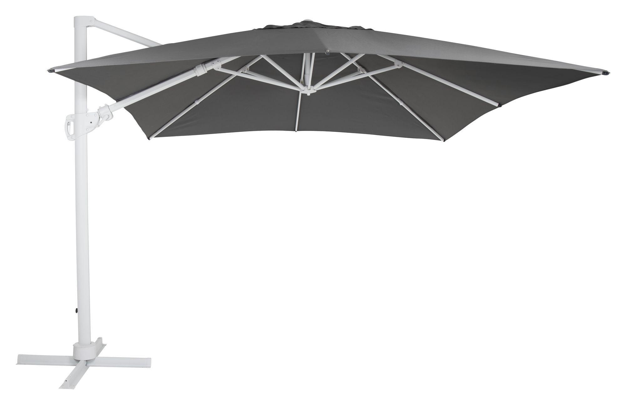 Brafab Varallo Parasol Frithængende - Hvid/Grå, 300x300