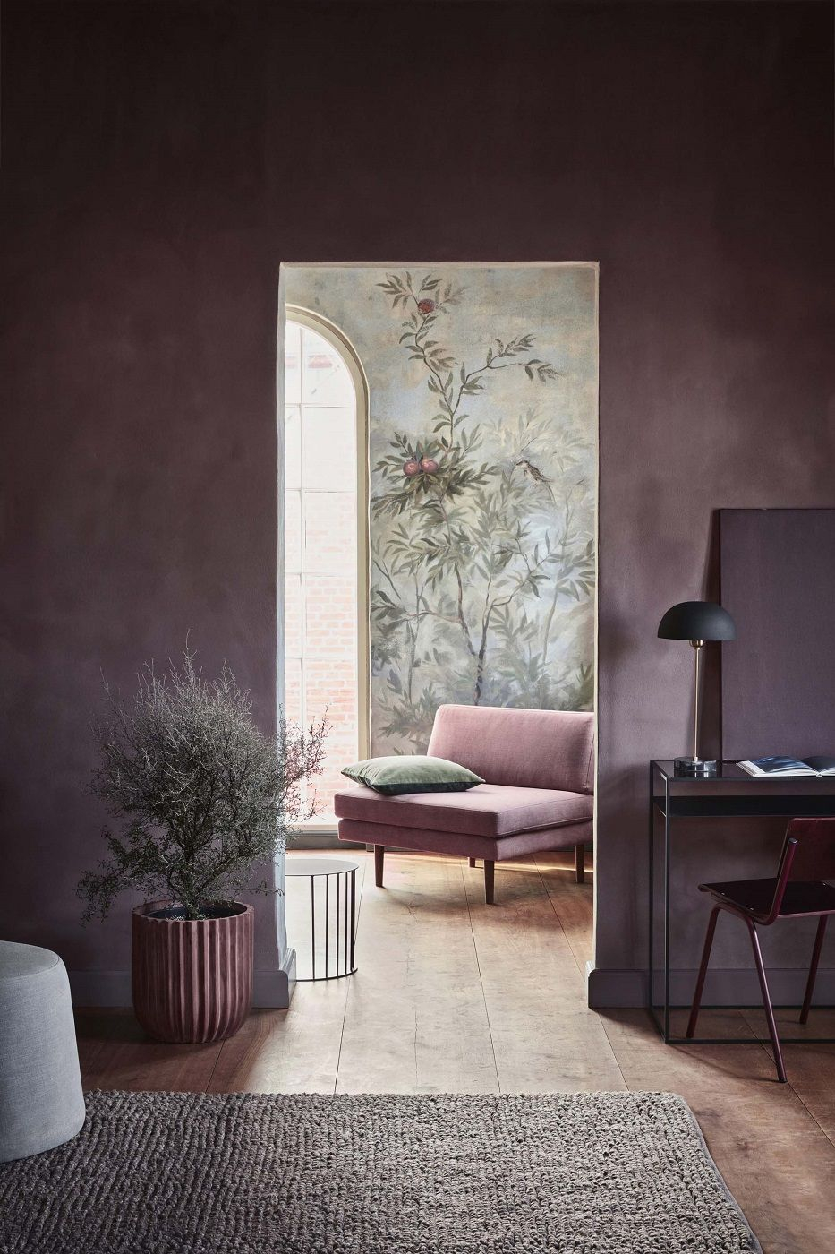 Fiber Flowerpot - Terracotta Rød - BROSTE COPENHAGEN