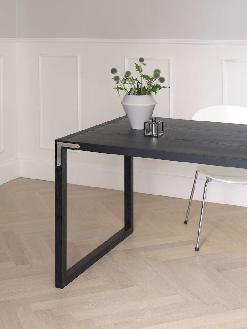 by Lassen - Conekt Spisebord 190x80 - Sort bejdset ask - Spisebord i sort asketræ