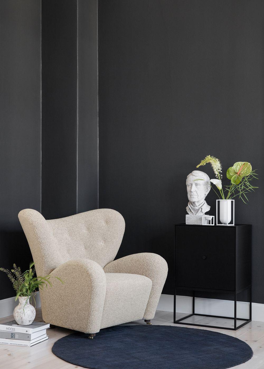 by Lassen - Den Trætte Mand Lænestol - Nubuck - Lænestol i brunt stof