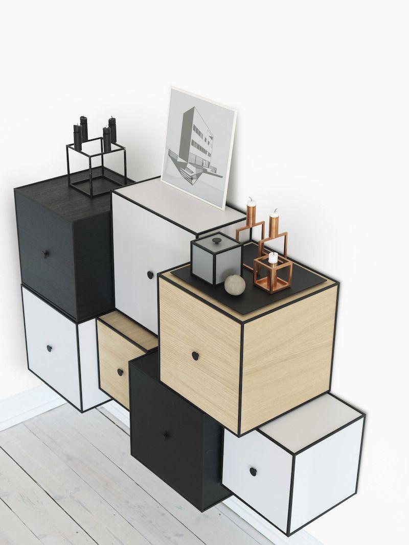 by Lassen - Frame 35 m/Låge - Eg - Reol i eg med låge