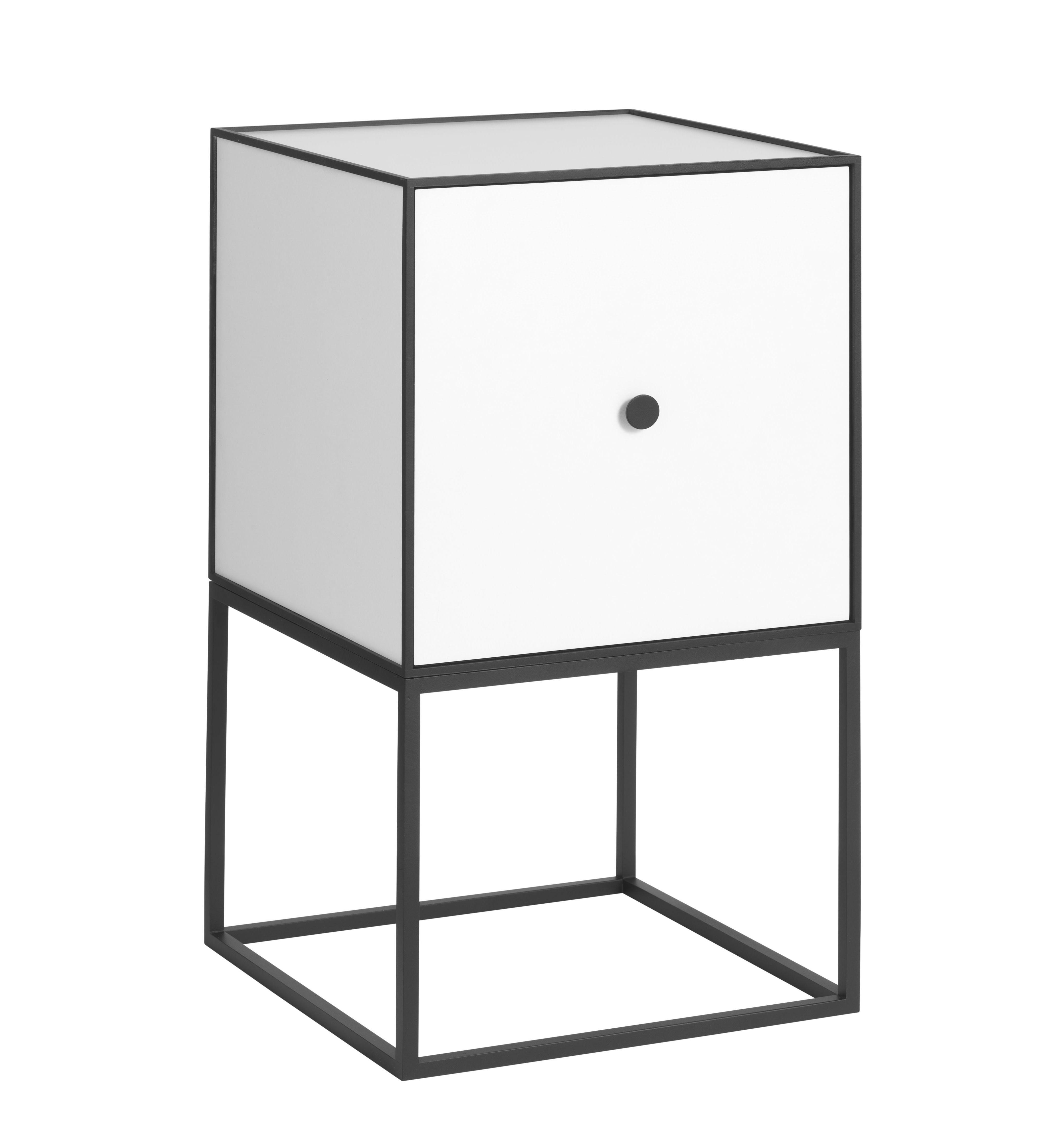 by Lassen - Frame 35 m/Låge - Hvid - Reol i hvid med låge