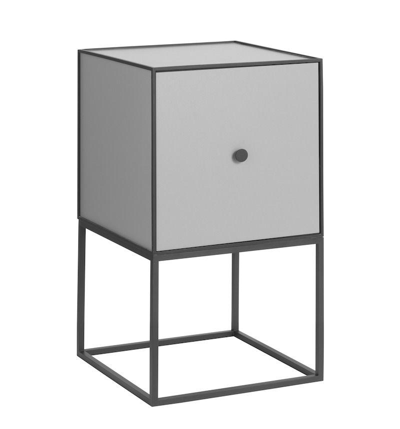 by Lassen - Frame 35 m/Låge - Mørk grå - Reol i mørkegrå med låge