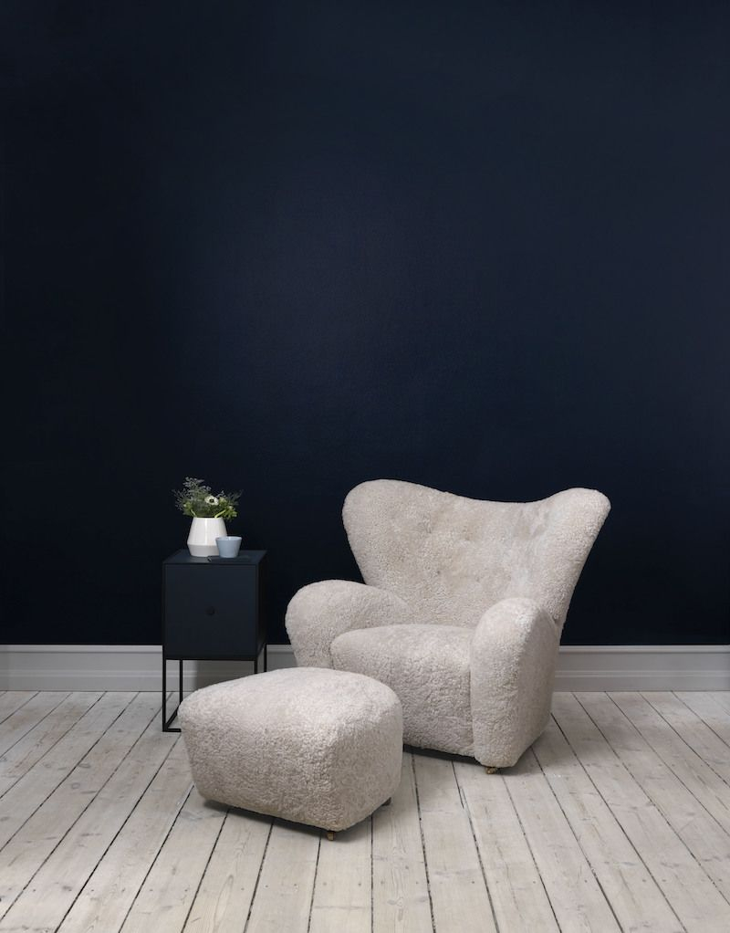 by Lassen - Frame 35 m/Låge - Mørkeblå - Reol i mørkeblå med låge
