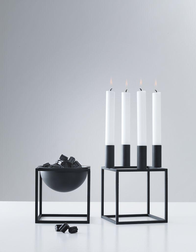 by lassen kubus 4 lysestage sort gratis fragt. Black Bedroom Furniture Sets. Home Design Ideas