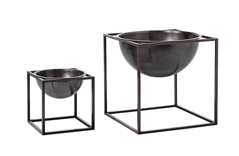 by Lassen - Kubus Bowl 14x14 - Brændt kobber  - Bowle i brændt kobber