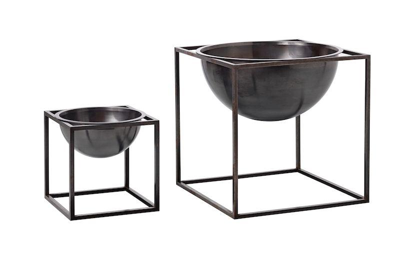 by Lassen - Kubus Bowl 23x23 - Brændt kobber - Bowle i brændt kobber
