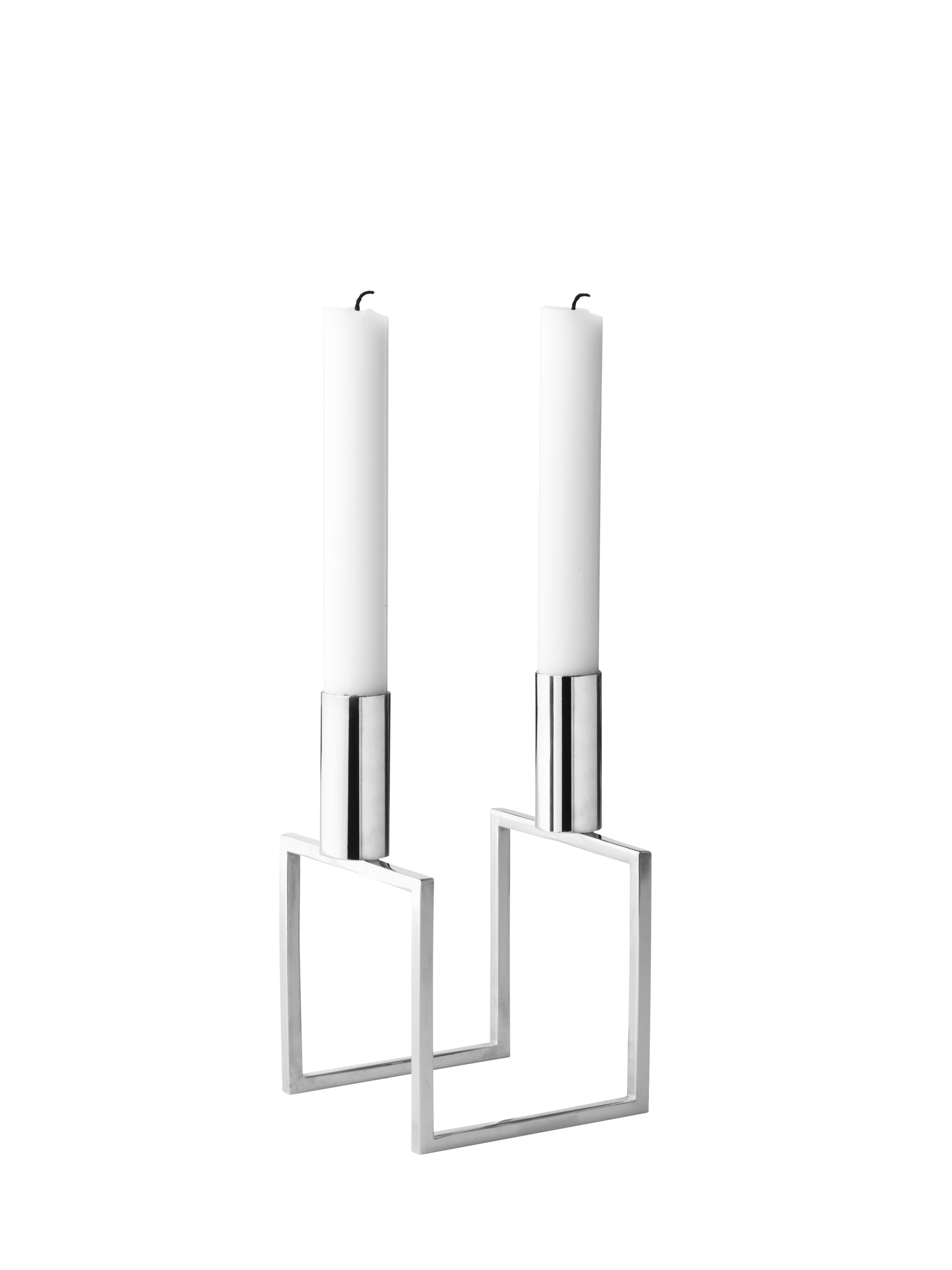 by Lassen - Line Lysestage - Nikkelbelagt - Nikkelbelagt lysestage