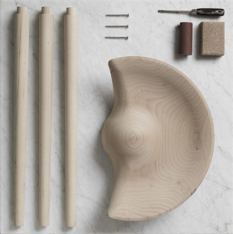 by Lassen - ML42 Taburet - Eg - Taburet i egetræ