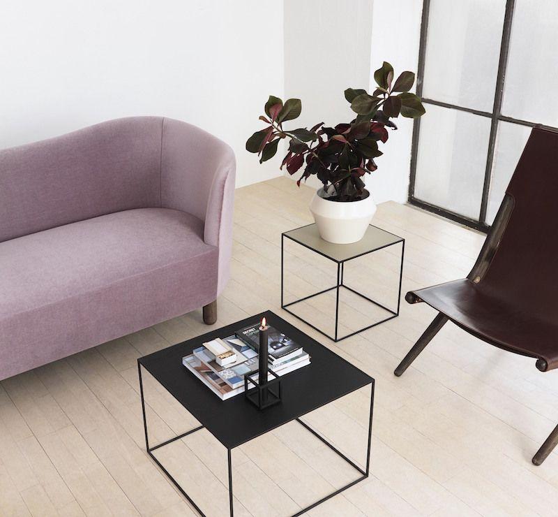 by Lassen - Twin 49 Sofabord - Sort/Cool grey - Sofabord i sort og grå