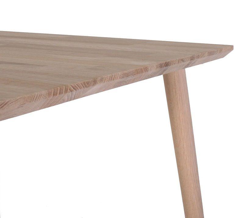Arendal Spisebord - Lystræ - Spisebord i hvidtonet massiv træ