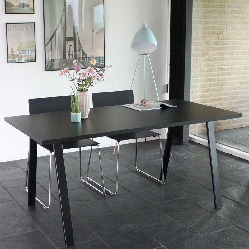 By Tika Halmstad Spisebord 160x80  - Sort - Spisebord i sort