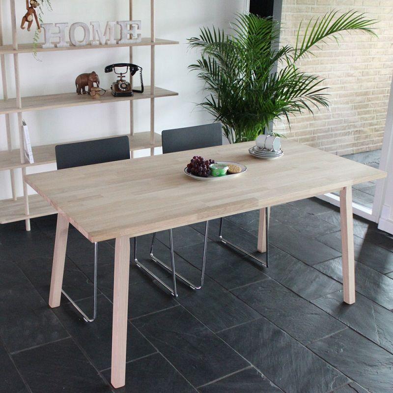 Kalmar Spisebord med sargkant - Lystræ - Spisebord med sargkant