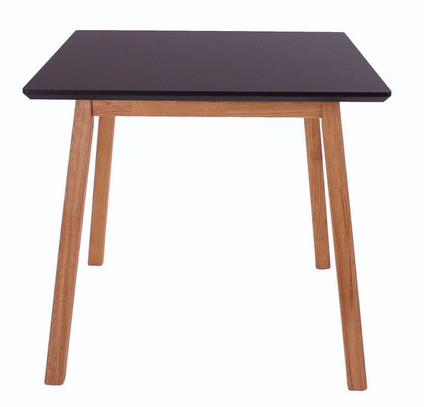 Furnliving Larvik Spisebord 80x80 - Sort - Spisebord med sort top