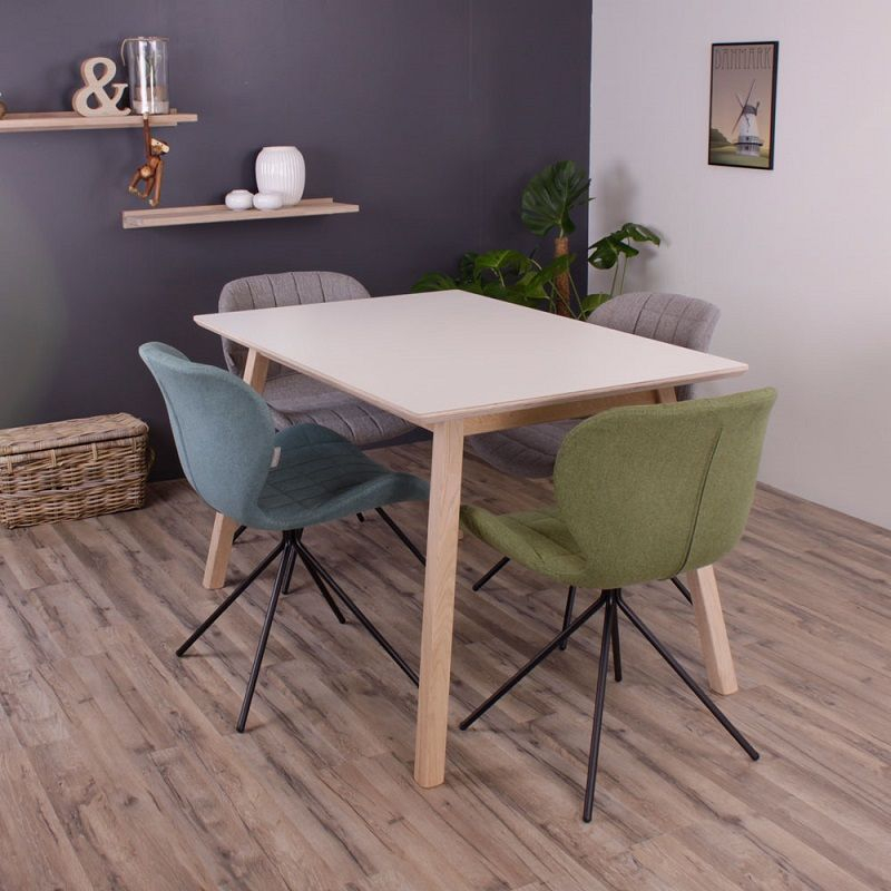 By Tika Norberg Spisebord 120x80 - Hvid laminat - Spisebord med hvid overflade