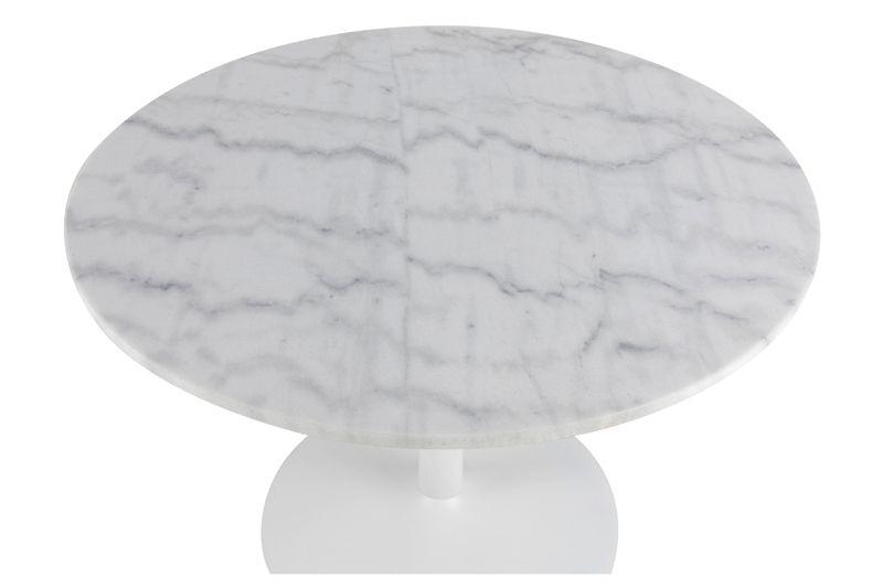 Cadiz Spisebord Ø110 - Hvid Guangxi marmor