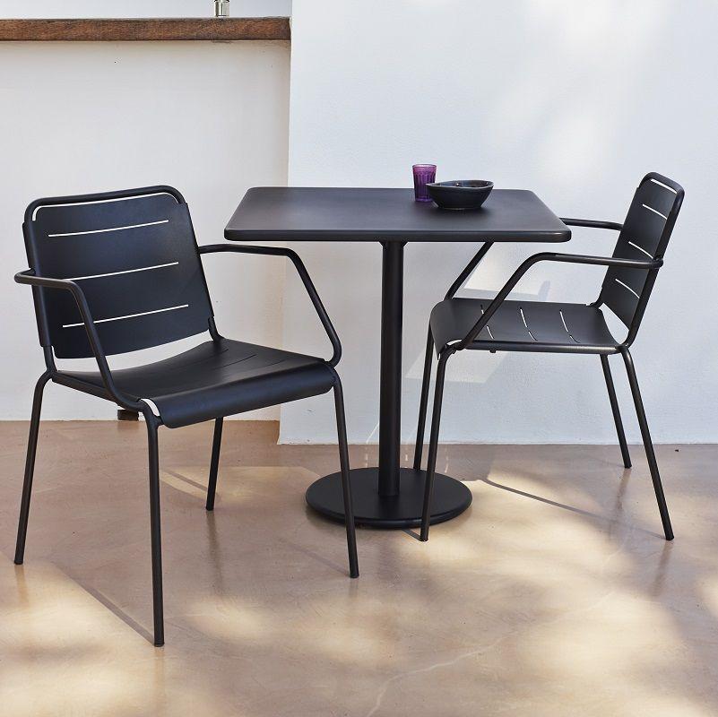 Cane-line - GO - 64x64 Cafebord - Grå - Cane-line cafébord