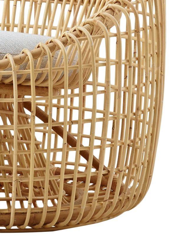 Caneline - Nest Loungestol - Natur - Cane-line Loungestol i rattan