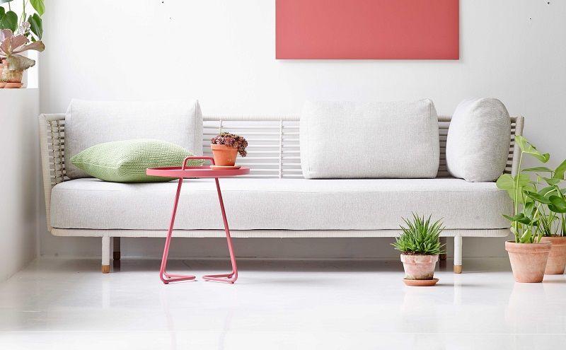 Cane-line - Sense 3-pers. sofa - Natur - Cane-line Hvid 3-personers sofa