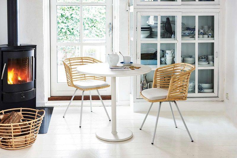 Cane-line - Spin Spisebordsstol - Natur - Hvid spisebordsstol
