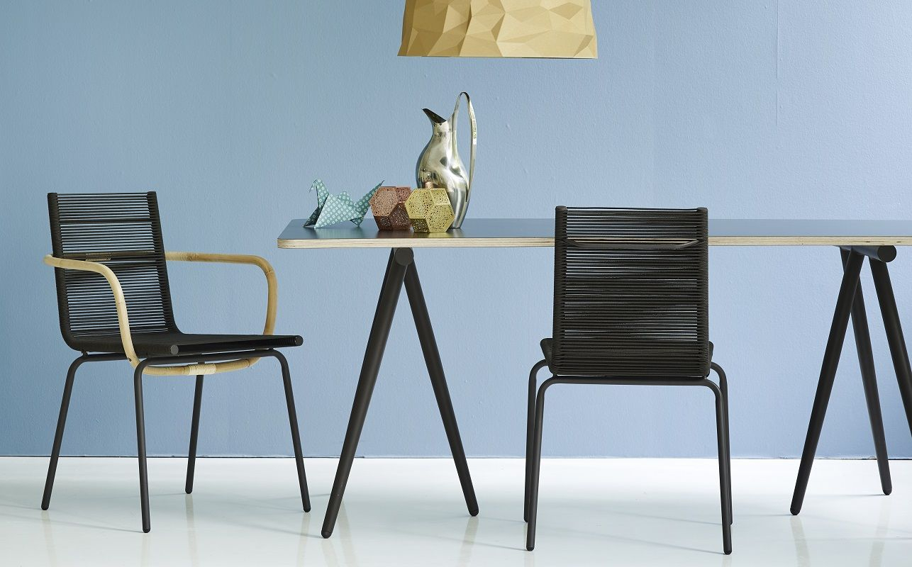 Cane-line - Turn 180x90 Spisebord - Brun - Vendbar bordplade brun/hvid