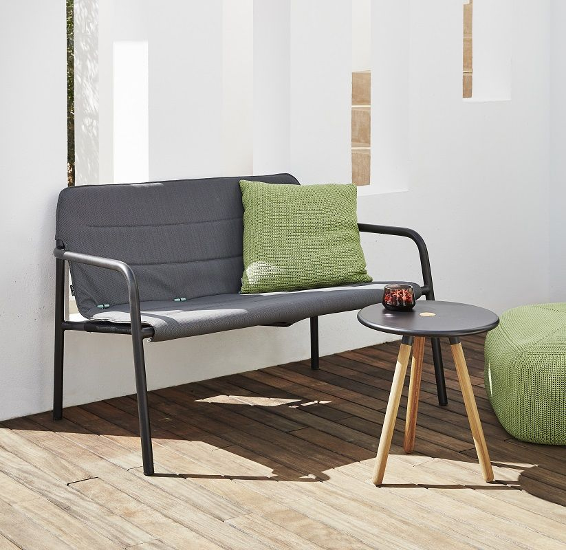 Caneline - Kapa 2-pers. Loungesofa - Grå - Cane-line Grå loungesofa