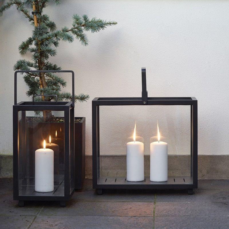 Lighthouse Lanterne - Grå - Lille - Cane-line Grå lanterne - lille