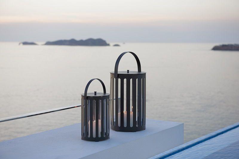Cane-line - Lighttube Lanterne Ø21 - Aluminium - Lanterne i grå