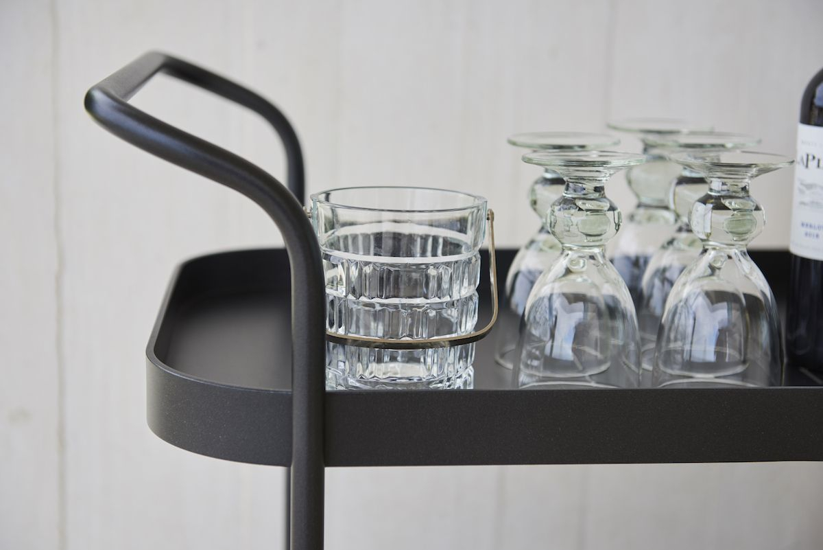Cane-line - Roll Rullebord - lava grå, teak