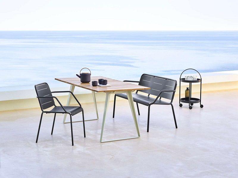 Cane-line - Roll Rullebord - Lavagrå - Lavagråt rullebord
