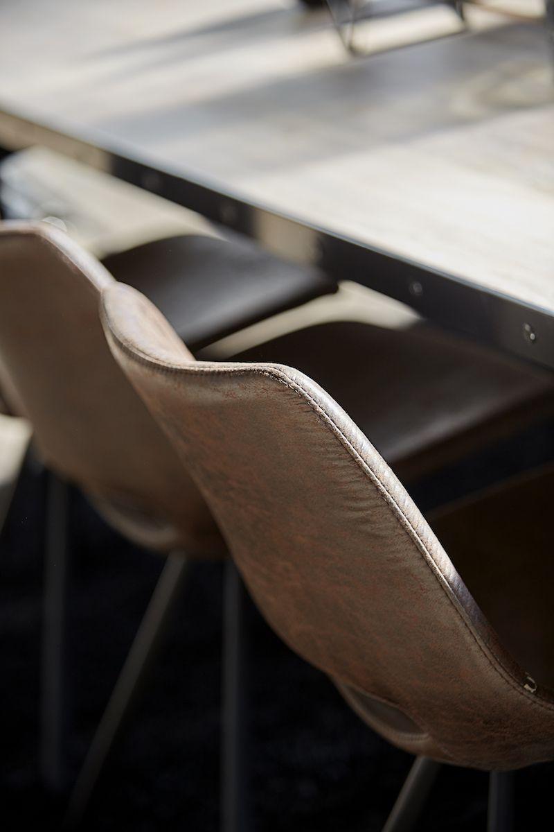 Canett - Coronas Spisebordsstol - Brun microfiber - Wayne Spisestol, brun