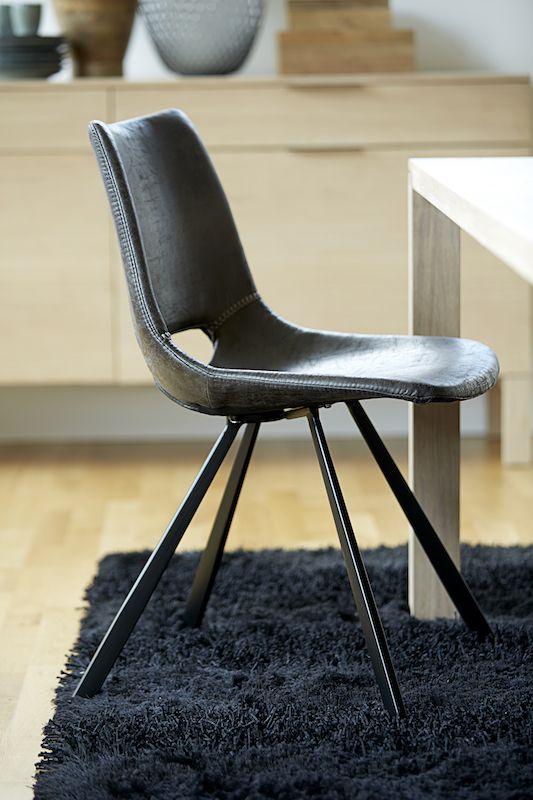 Wayne Spisebordsstol - Sort microfiber - Wayne Spisebordsstol i sort