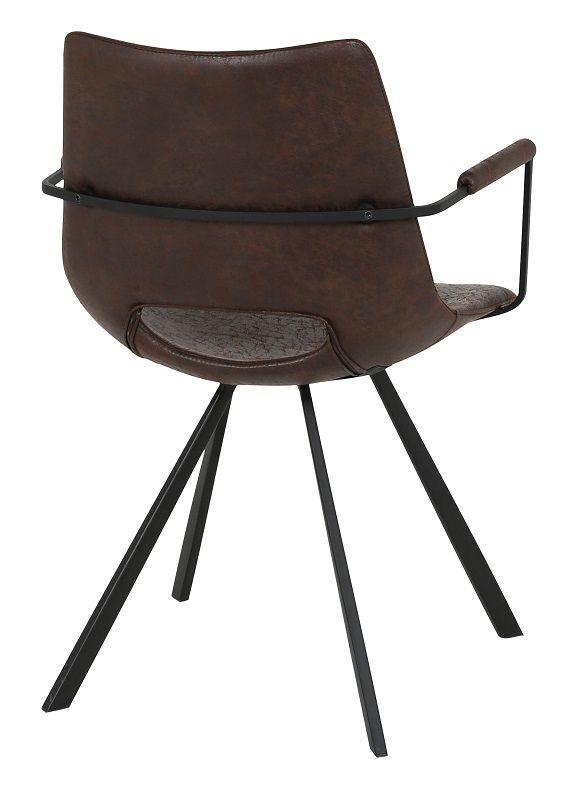 Wayne Spisebordsstol - Mørkebrun m. Armlæn - Wayne Spisebordsstol med armlæn