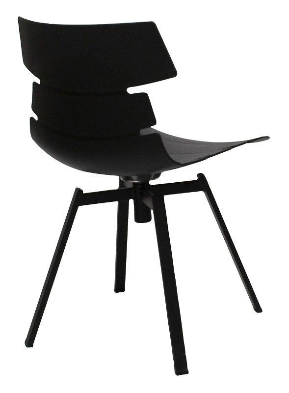 Canett Idaho Spisebordsstol på drejefod - Mat sort - Lækker spisebordsstol i sort